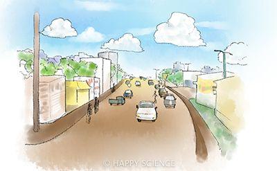 ウガンダの町並み
