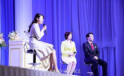 幸福実現党の江夏政調会長、七海ひろこ広報本部長、福岡県本部 よしとみ和枝副代表