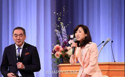 里村理事と釈党首トークショー